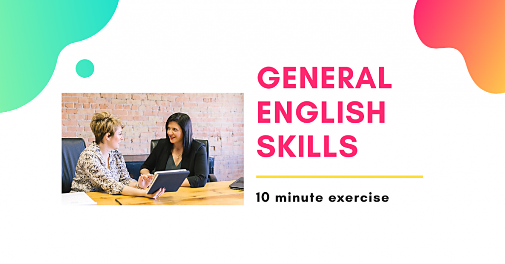 General English video grammar exercise